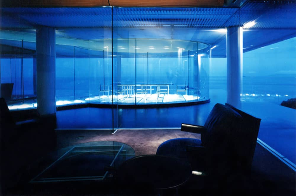 Water Glass Guest House at Shizuoka ผลงานการออกแบบของเคนโกะ คุมะ (Kengo Kuma) โด่งดังมากที่เมืองอาตามิ (Atami) จังหวัดชิซูโอกะ (Shizuoka)