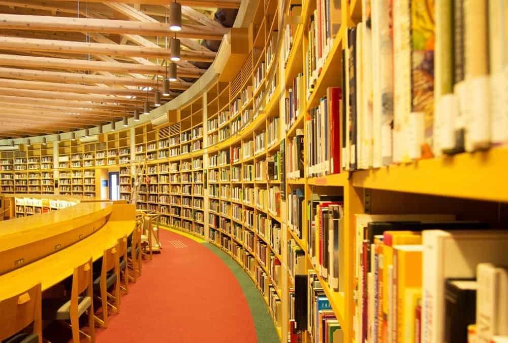 ห้องสมุด Nakajima Library ตั้งอยู่ภายในมหาวิทยาลัย Akita International University