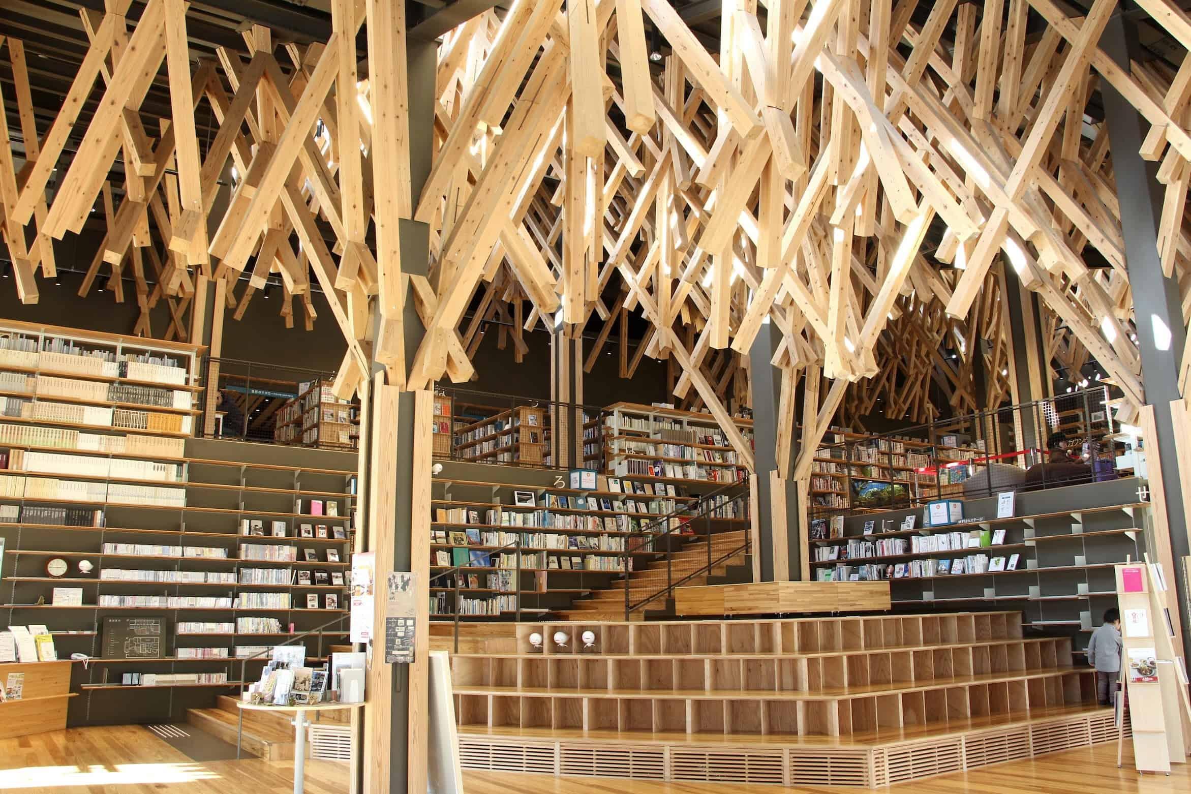 Yusuhara Kumo no Ue Community Library, Kengo Kuma