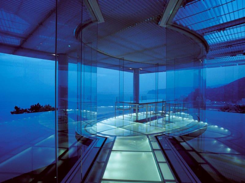 Water Glass Guest House at Shizuoka designed by Kengo Kuma