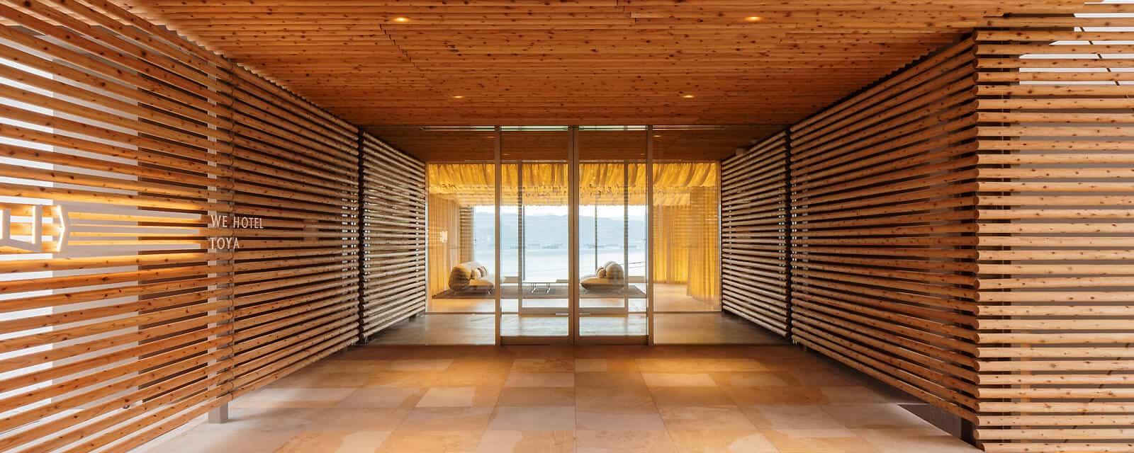 WE Hotel Toya design by Kengo Kuma