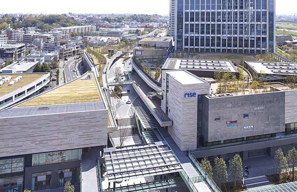 ภาพมุมสูงของ Futako Tamagawa Rise Complex