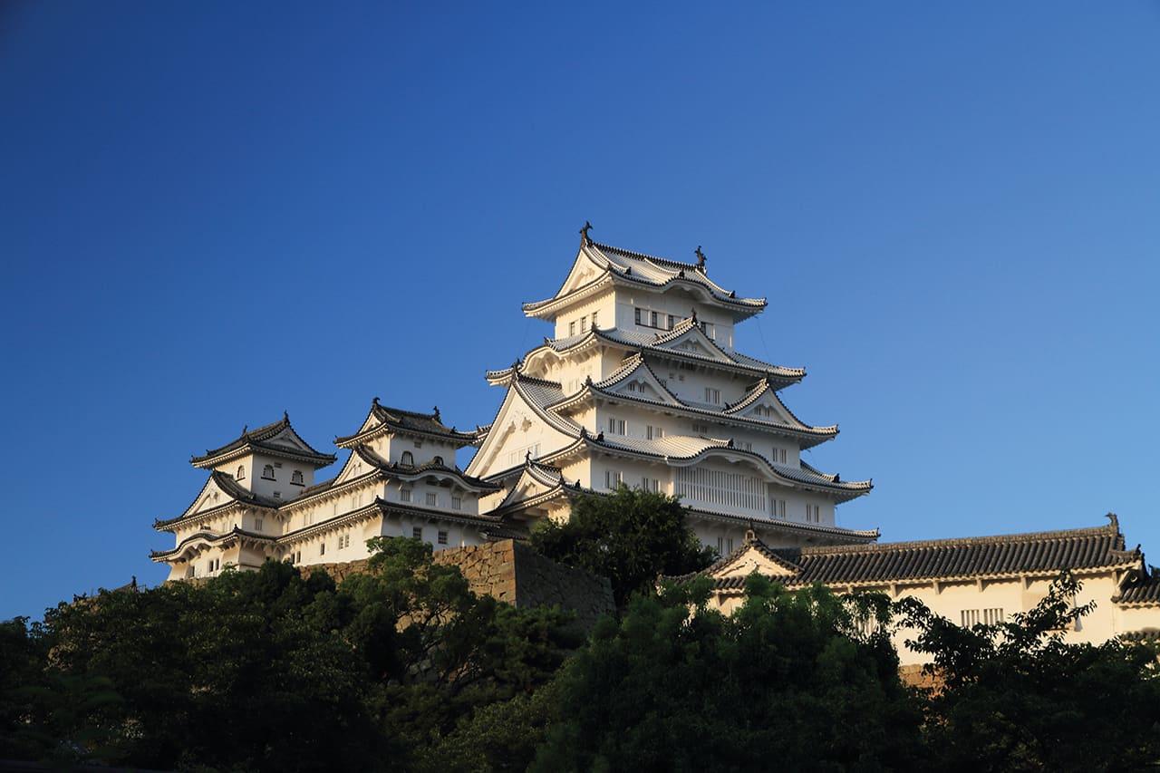 ปราสาทฮิเมจิ (Himeji Castle) ในเมือง ฮิเมจิ ใกล้ๆ กับ โกเบ และ อากาชิ