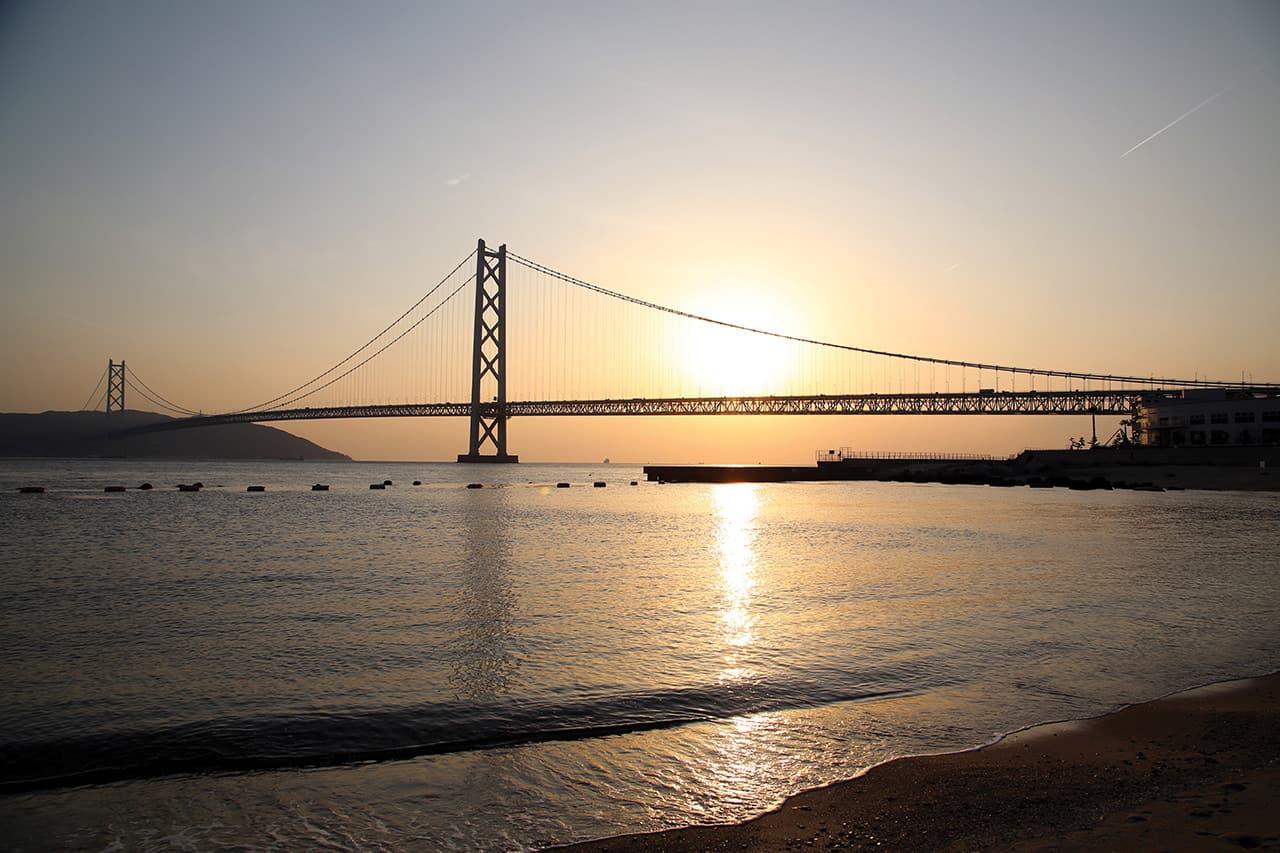 West Kobe Good Views at Akashi Kaikyo Bridge