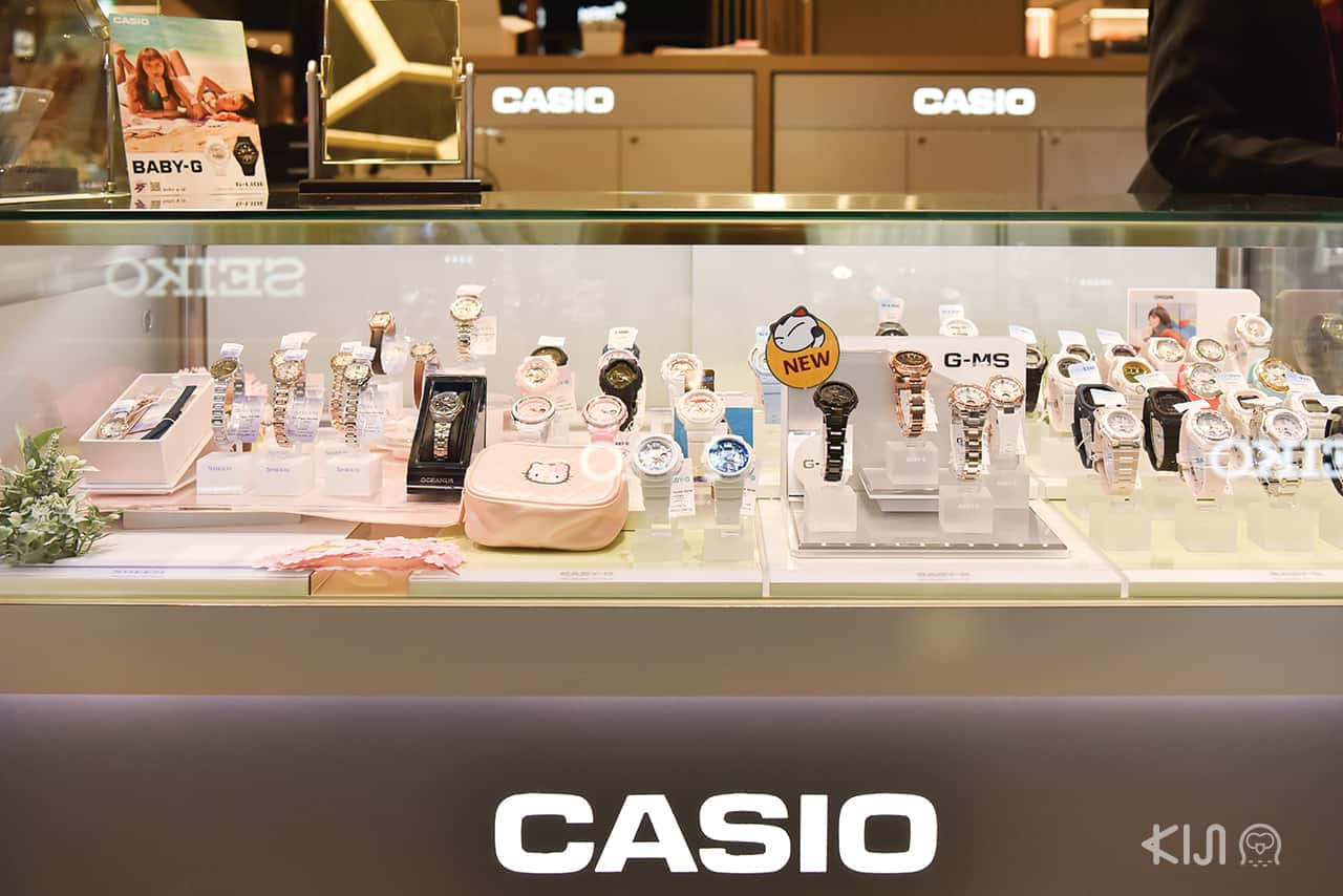 Casio at LOTTE DUTY FREE GINZA