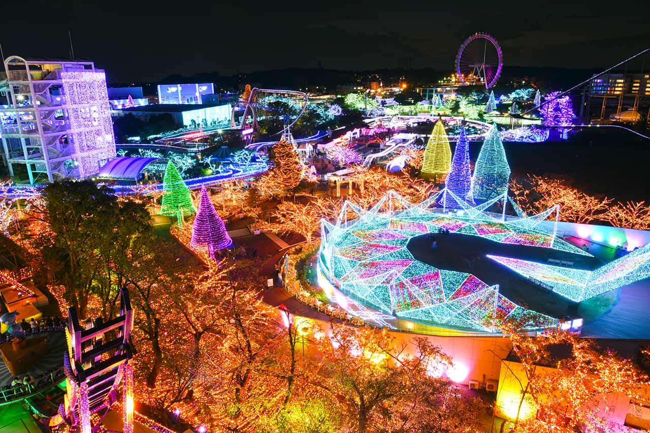 Jewellumination ที่สวนสนุกโยมิอุริแลนด์ (Yomiuriland)