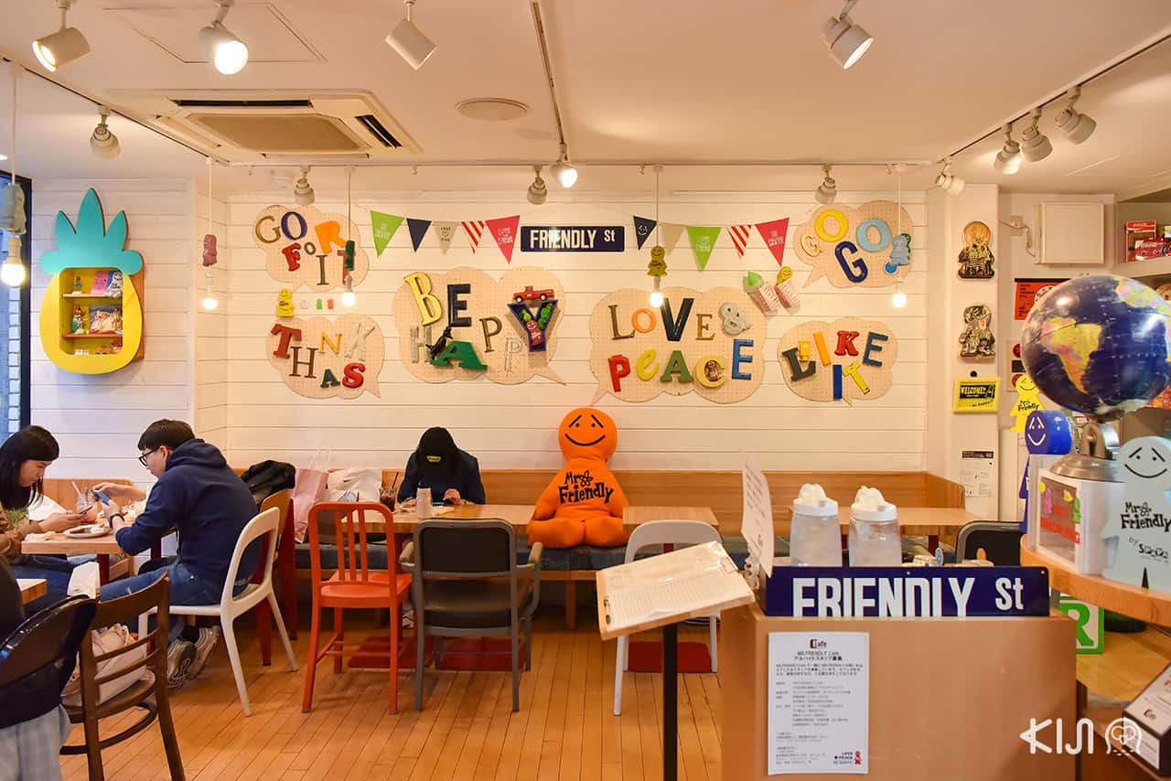 การตกแต่งภายในร้าน Mr. Friendly Cafe, Ebisu station, Tokyo
