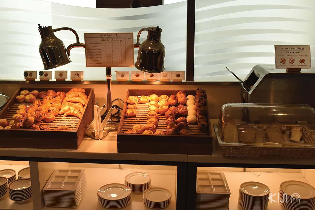 ขนมปังมากมายที่ Hotel Okura Kobe