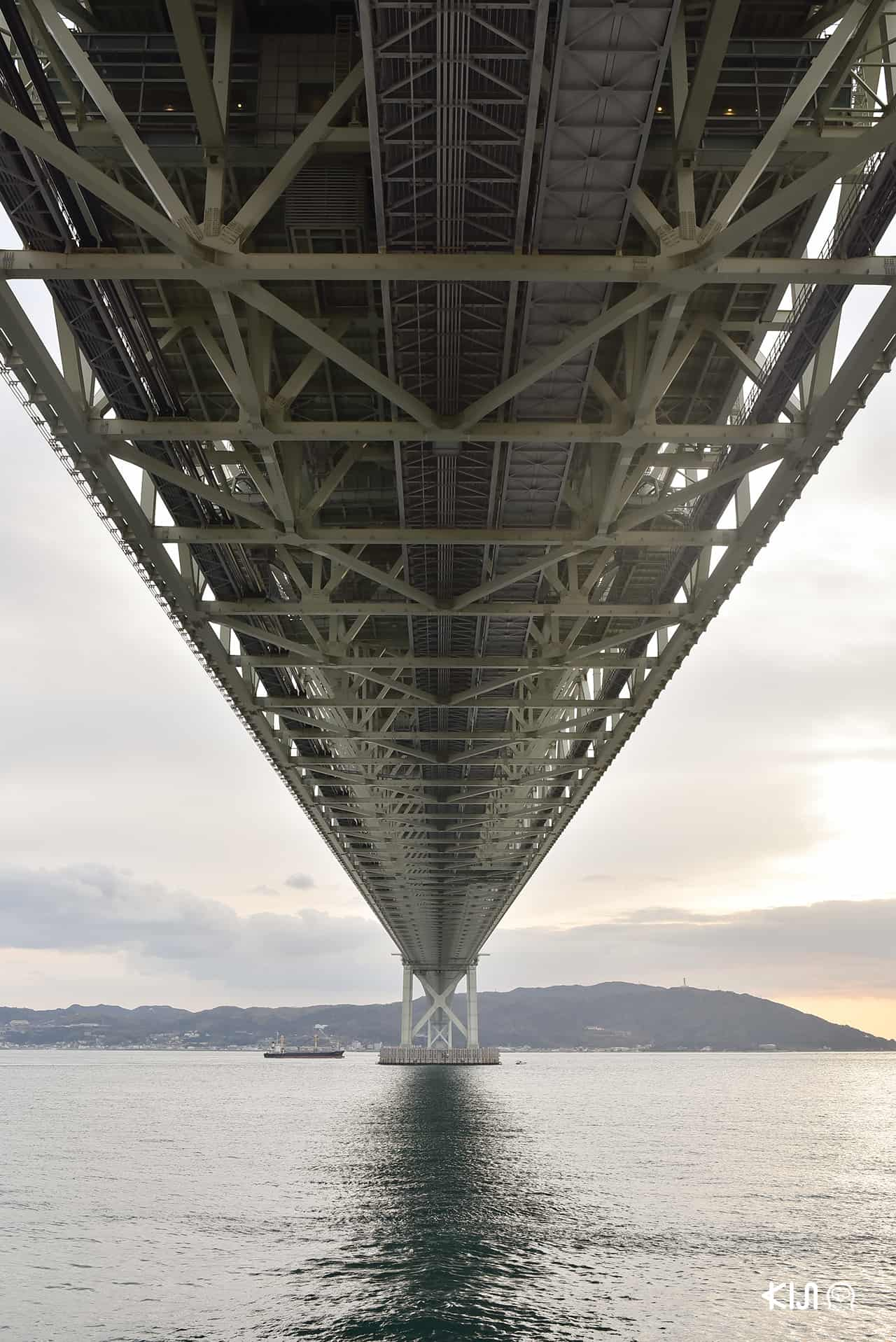 Akashi Kaikyo Bridge 明石海峡大橋 เมือง อากาชิ ใกล้ๆ ระหว่างเมือง โกเบ และ ฮิเมจิ