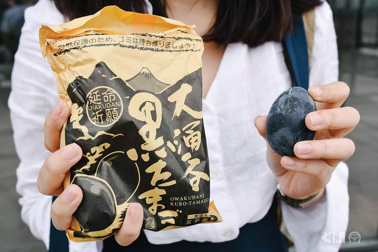 ไข่ดำ (Kurotamago) บนหุบเขาโอวาคุดานิ (Owakudani)