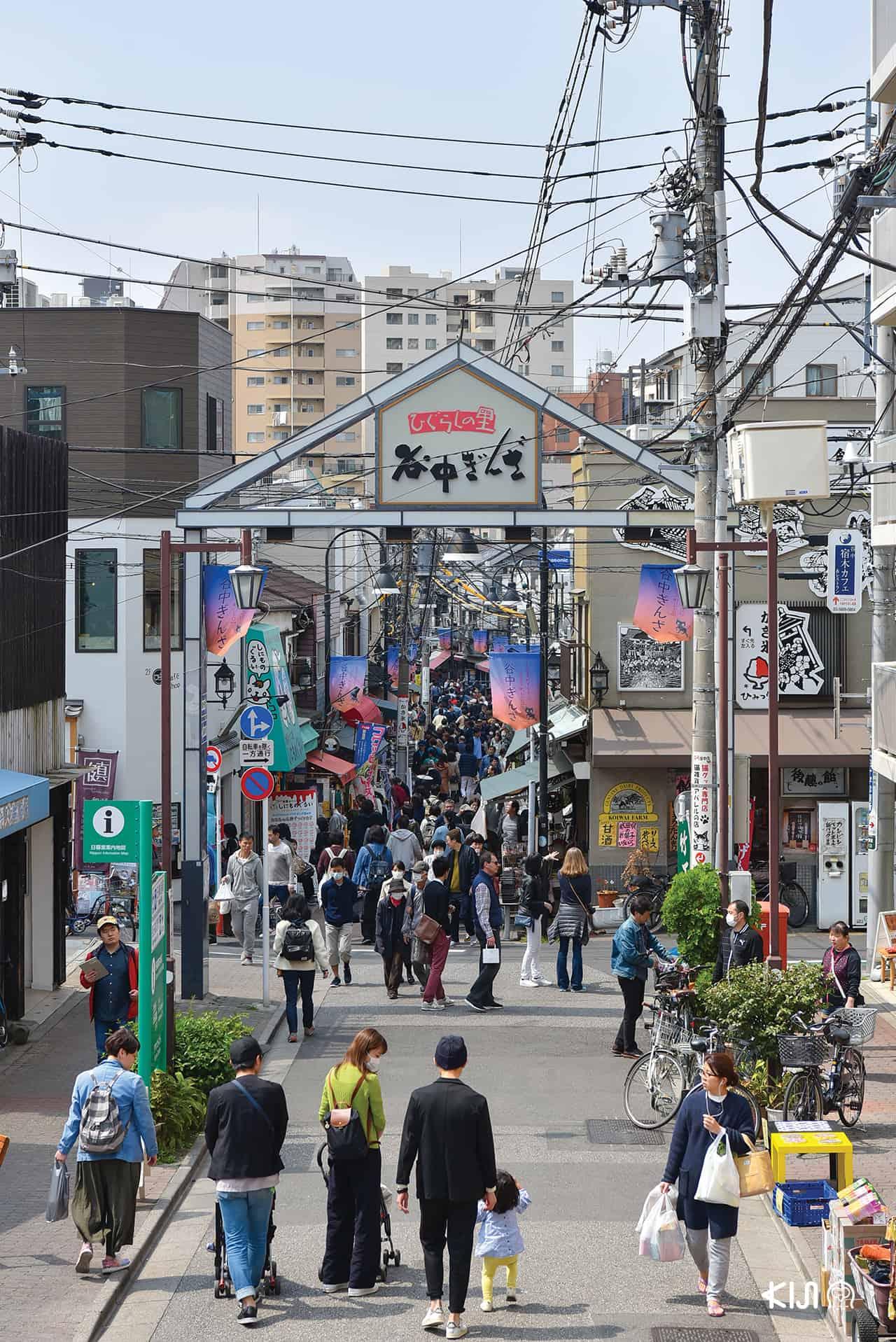 Yanaka Ginza หนึ่งในสถานที่ท่องเที่ยวยอดนิยมของ Yanesen