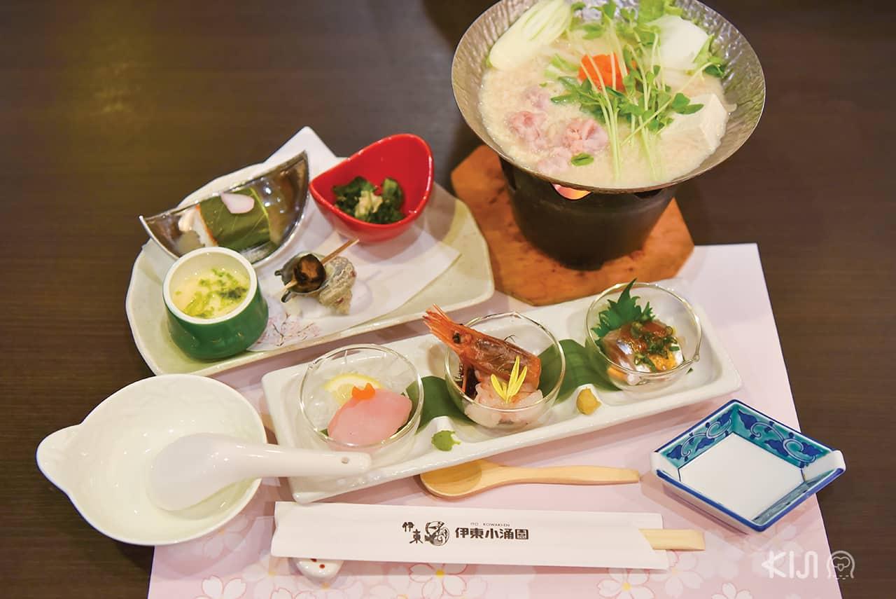 อาหารของโรงแรม Ito Kowakien - เมืองอิโต (Ito) จ.ชิซูโอกะ (SHIZUOKA)