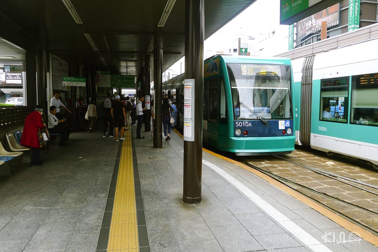 รถราง ญี่ปุ่น - สถานีรถรางเมืองฮิโรชิม่า