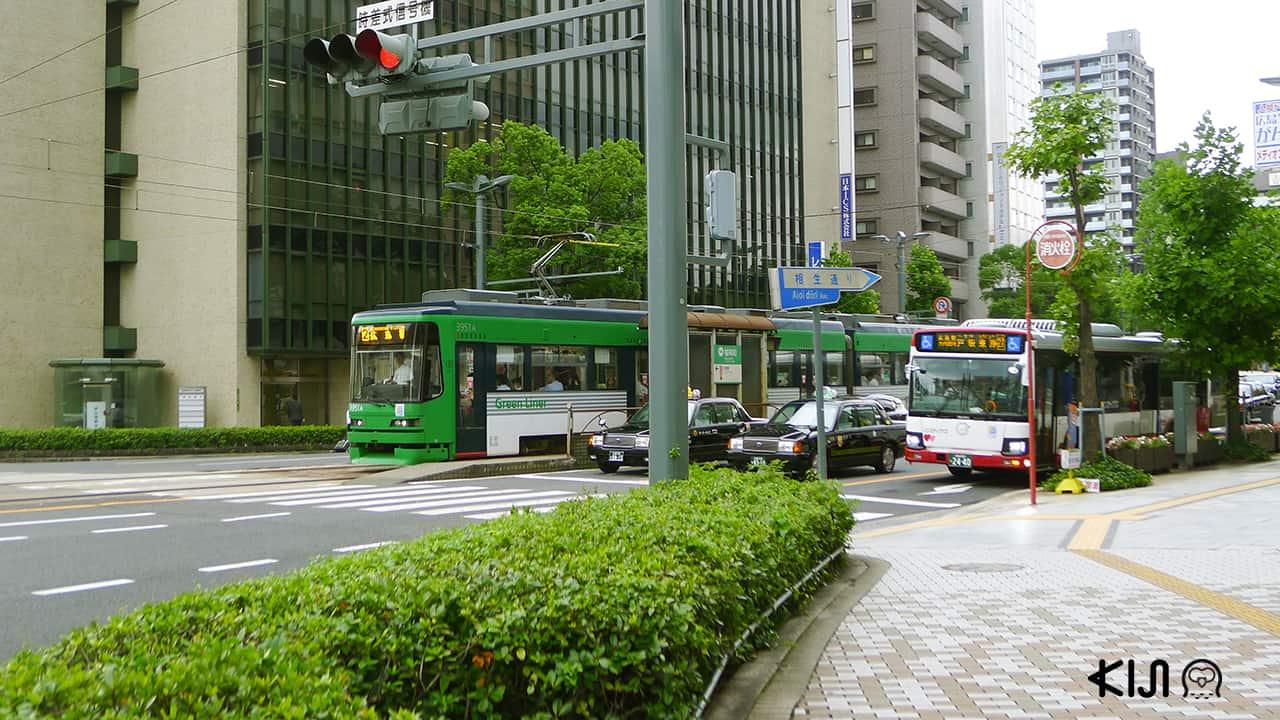 เมืองฮิโรชิมา (Hiroshima) - รถราง ญี่ปุ่น