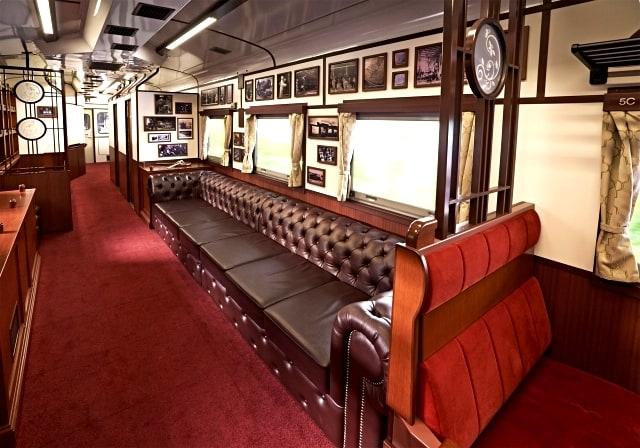 JR East Pass Tohoku - บรรยากาศภายในรถไฟ Joyful Train (SL Ginga)