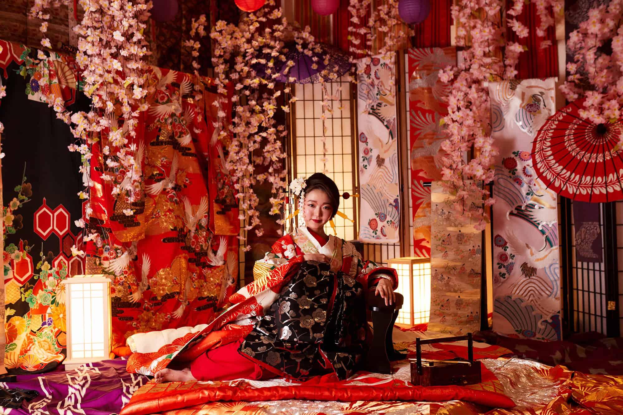 Solaniwa Onsen จ.โอซาก้า (Osaka) สามารถเช่าชุดยูกาตะเพื่อถ่ายรูปได้