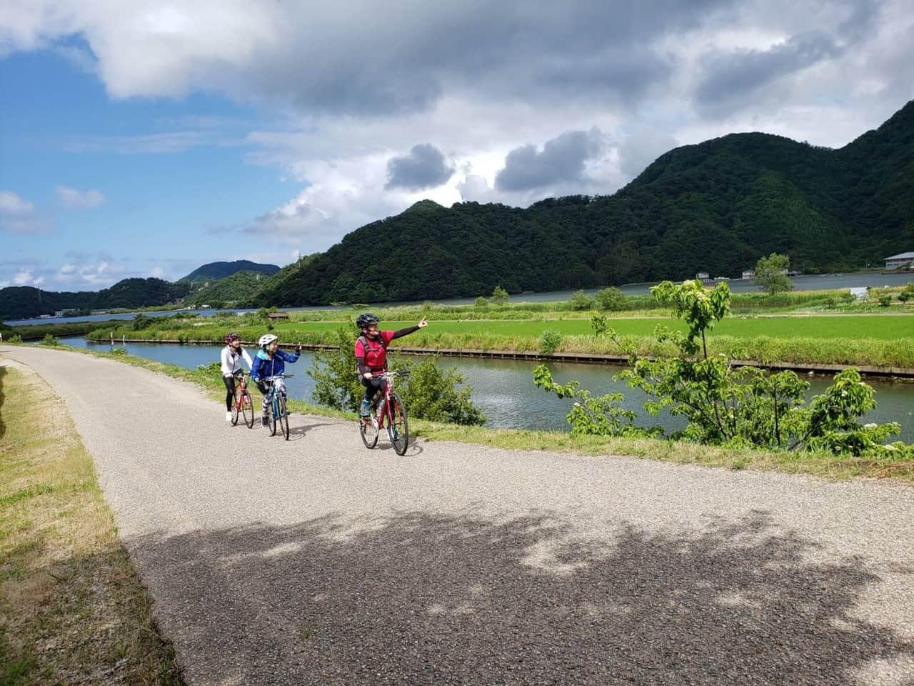 ปั่นจักรยานเลียบแม่น้ำ Maruyama River
