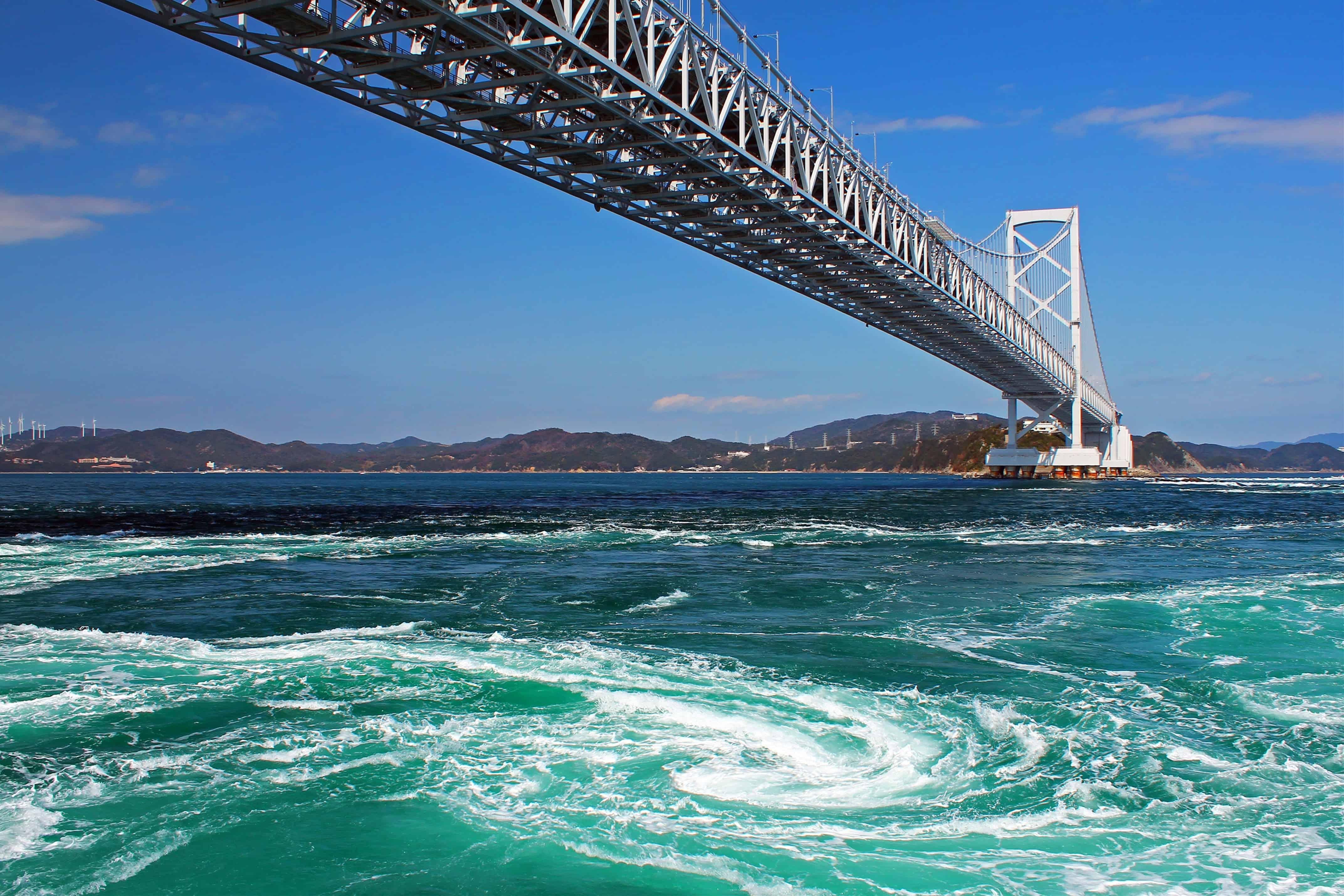 เที่ยวญี่ปุ่น คนน้อย น้ำวนนารูโตะ (Naruto Whirlpools : 鳴門の渦潮)