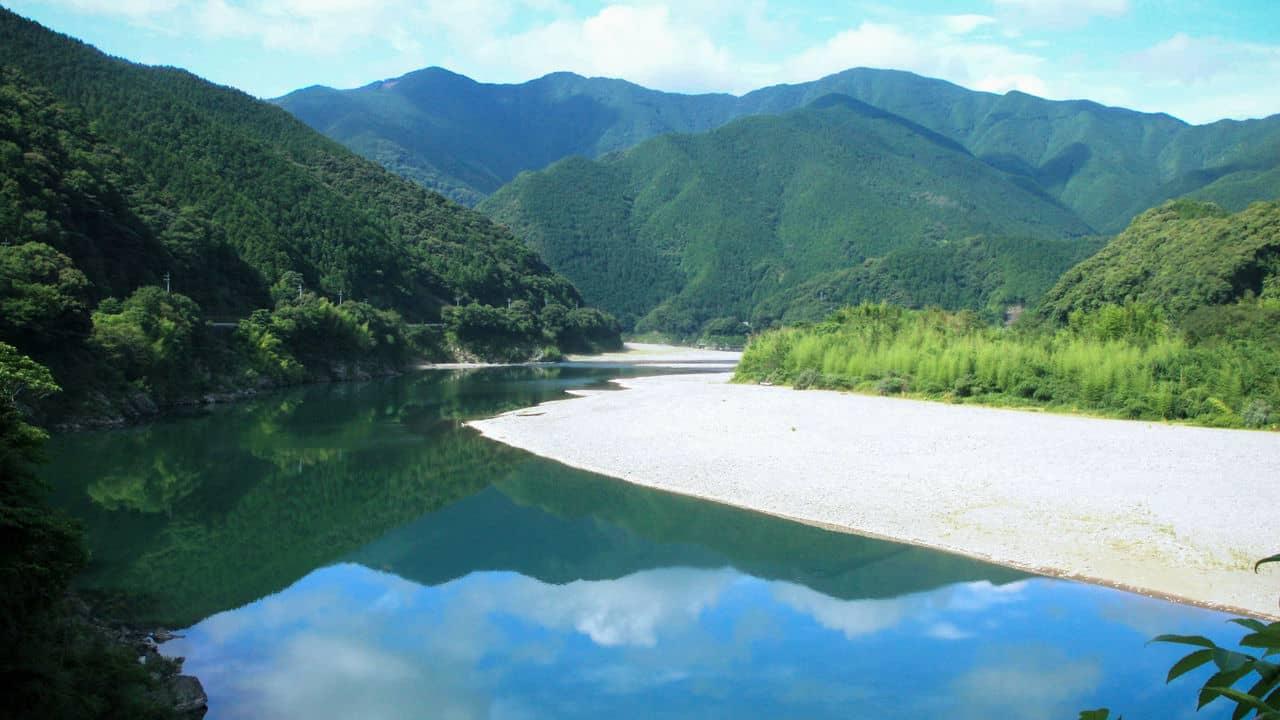 เที่ยวญี่ปุ่น คนน้อย ไม่ค่อยมีใครรู้จัก โคจิ Kochi Shimanto River