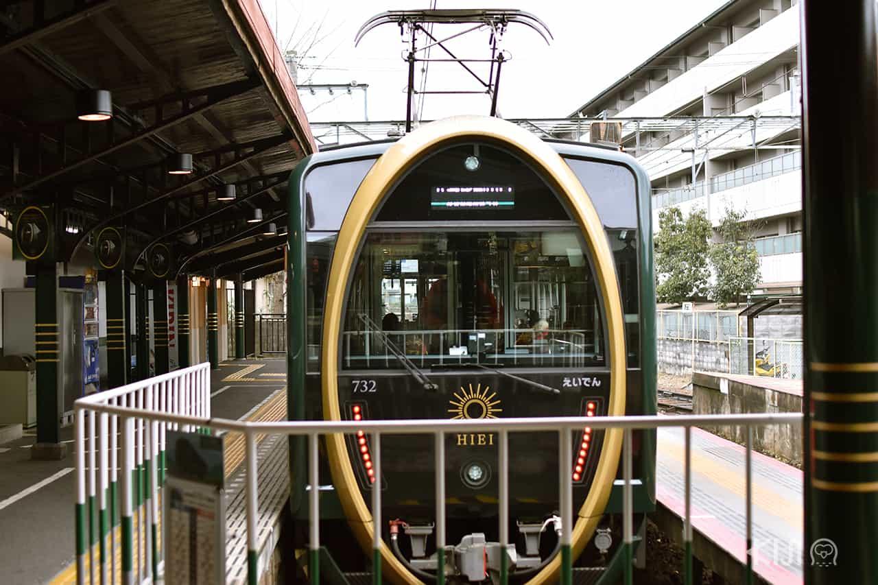 รถไฟฮิเอ (Hiei Train) สีเขียว