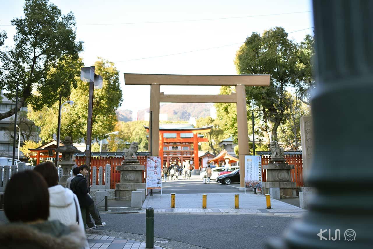 ศาลเจ้าอิคุตะ (Ikuta Shrine) เมืองโกเบ