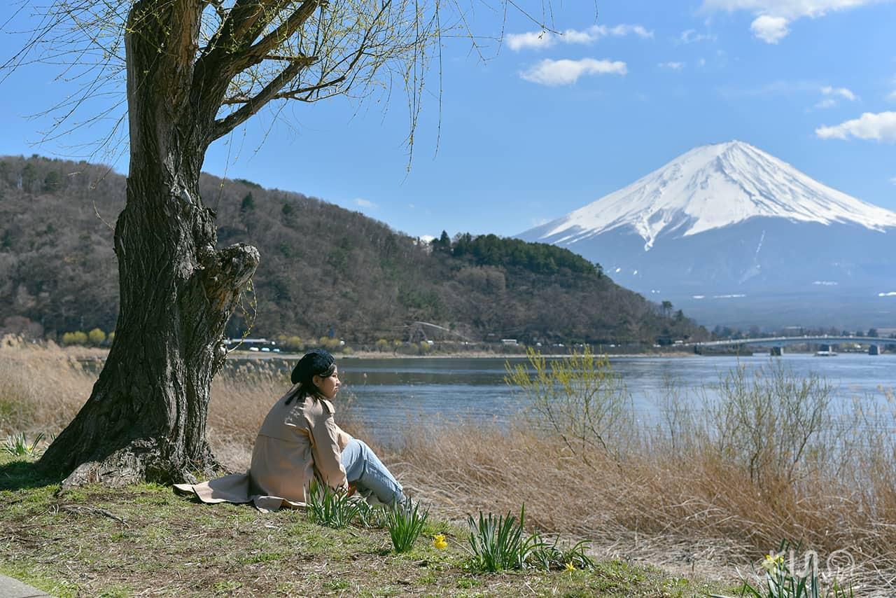 บรรยากาศริมทะเลสาบคาวากุจิโกะ Kawaguchiko