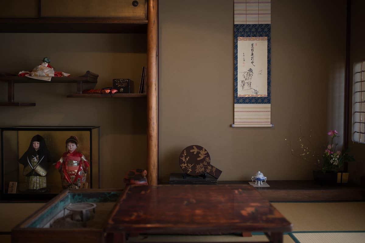 บรรยากาศภายในโรงน้ำชา Kaikaro Teahouse ,Higashi Chaya