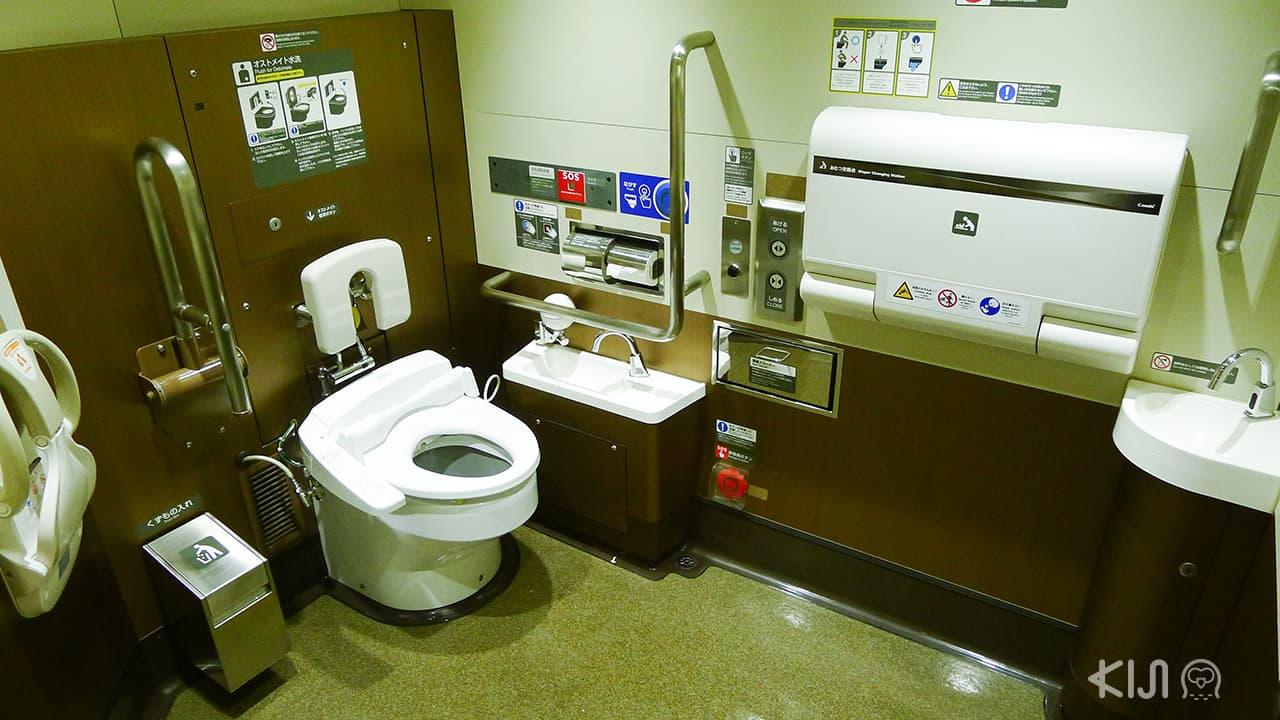 Universal Design ในญี่ปุ่น - ห้องน้ำอเนกประสงค์ในรถไฟชินคันเซ็น