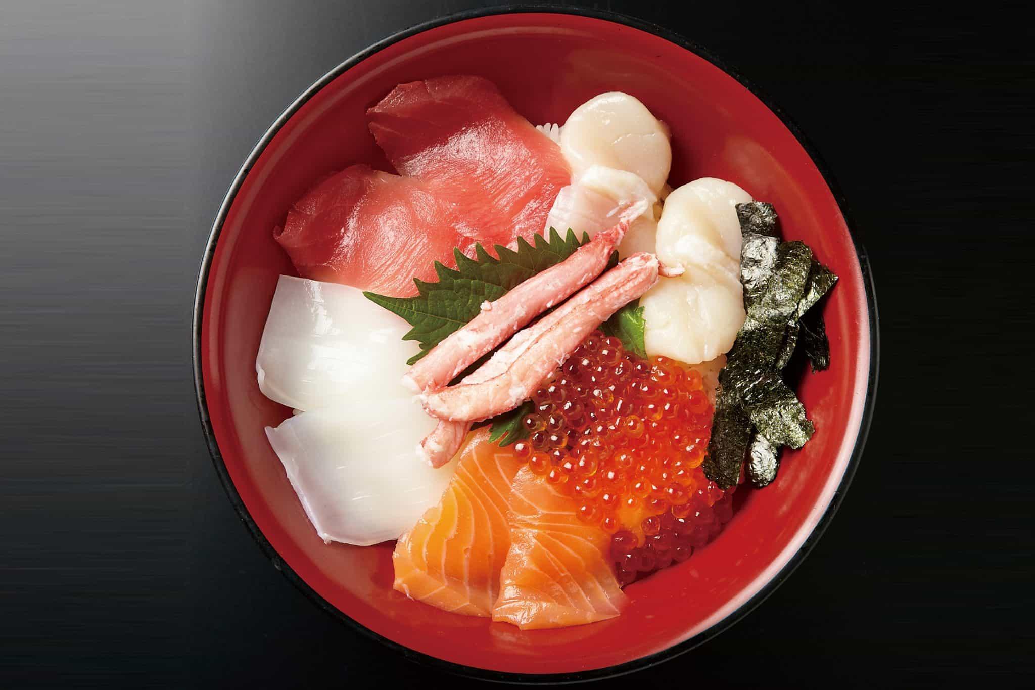ข้าวหน้าปลาดิบ Tokusei Kaisendon - Kuromon Sanpei (黒門三平) - ตลาดปลาคุโรมง (Kuromon Fish Market)