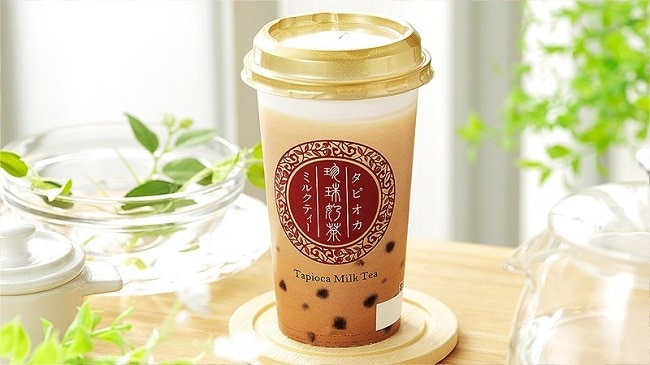 ชานมไข่มุกราคา 100 เยน จากร้าน LAWSON STORE 100 ญี่ปุ่น โตเกียว โอซาก้า