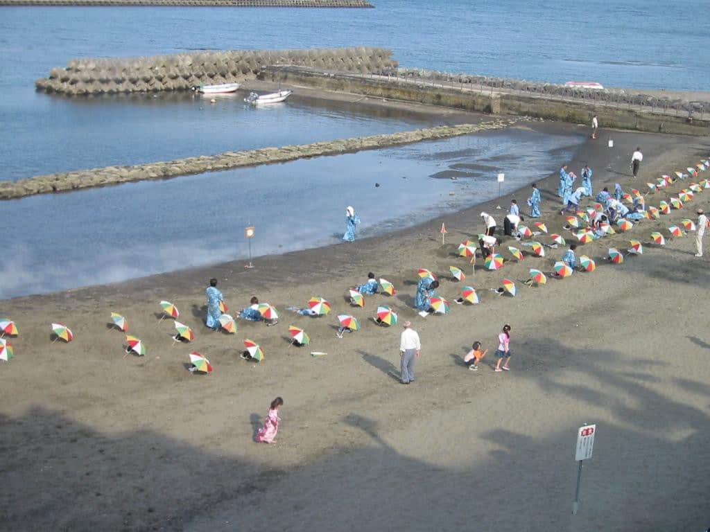 Ibusuki Sand Bath ออนเซ็นทราย คาโกชิม่า (Kagoshima)