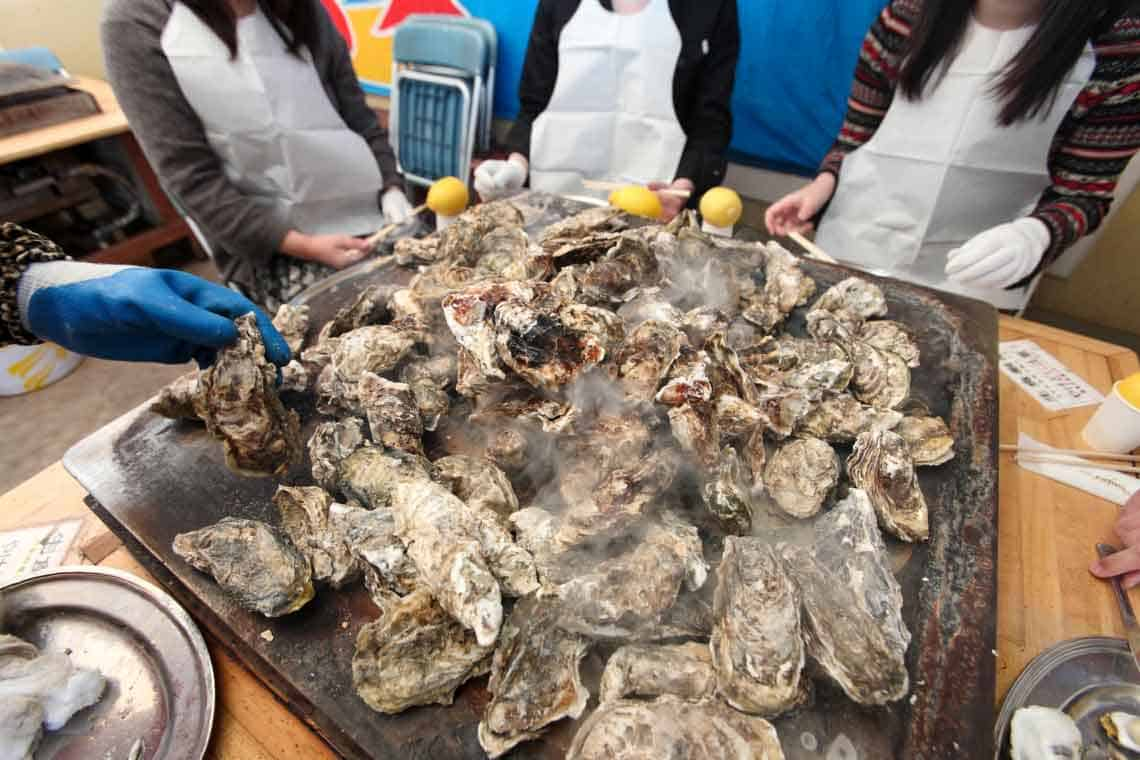 OYSTER BUFFET in Tohoku area