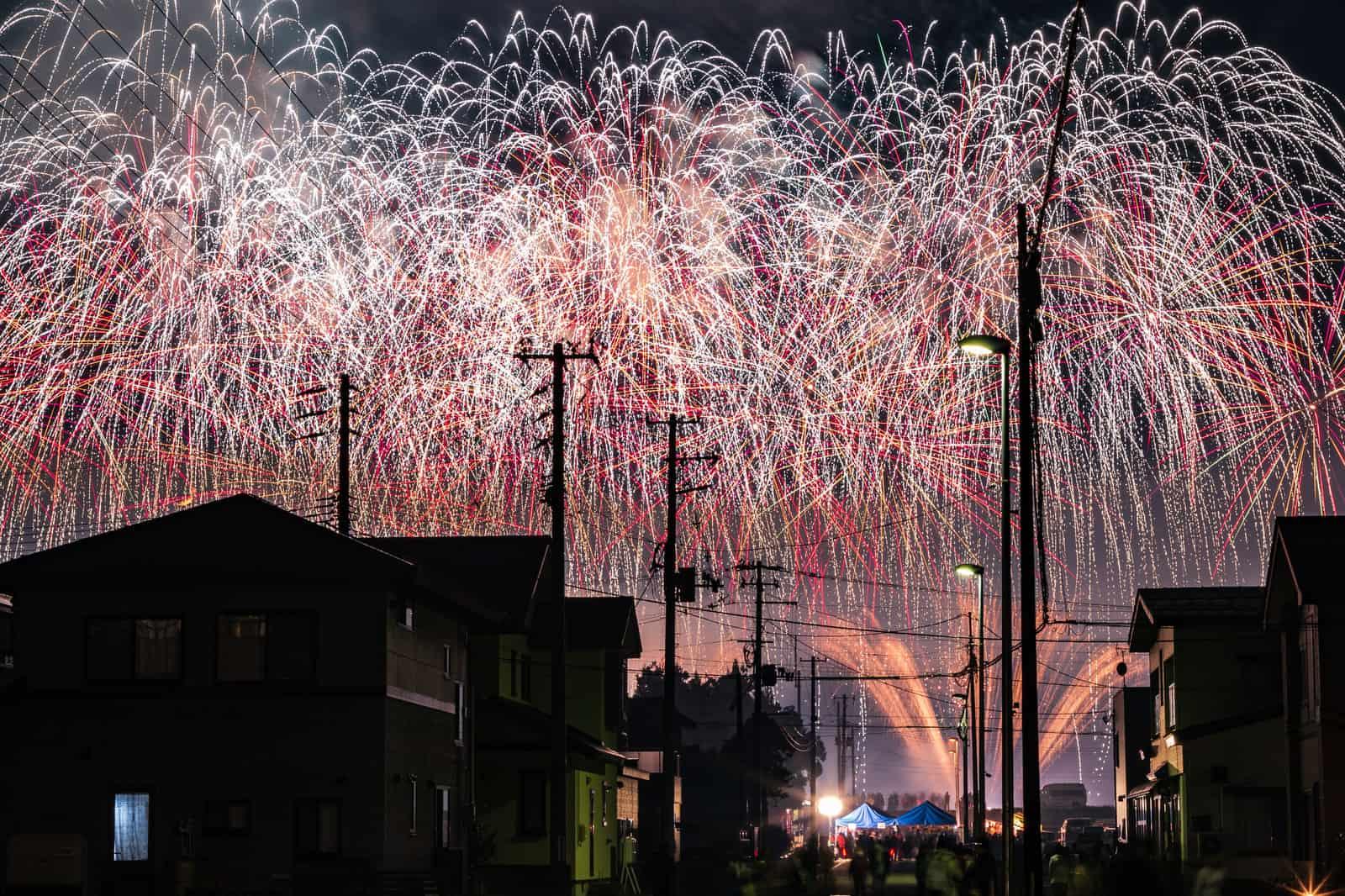 Omagari All Japan Fireworks Competition ที่เที่ยว ฤดูร้อนในเมืองโอมาการิ อาคิตะ