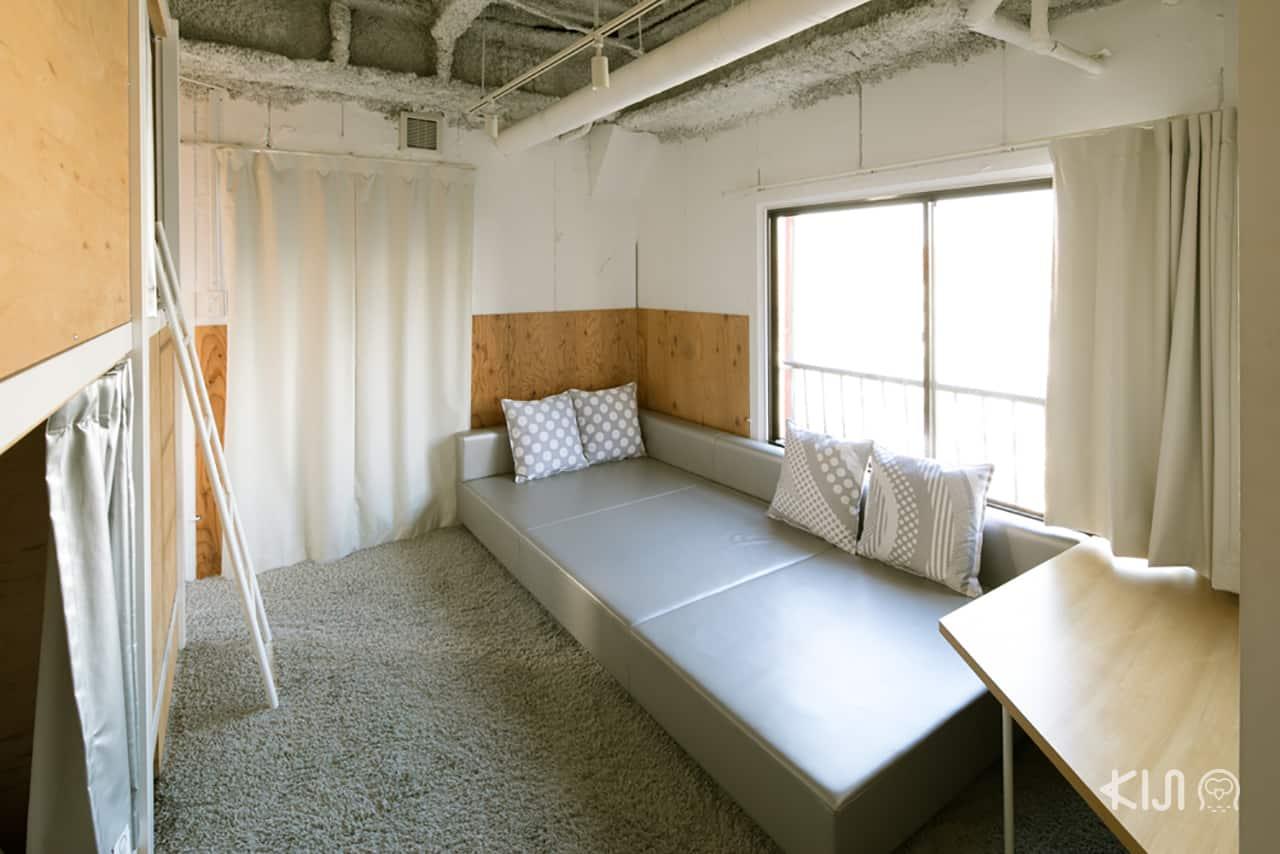 ภายในห้องพัก Bunka Hostel Tokyo