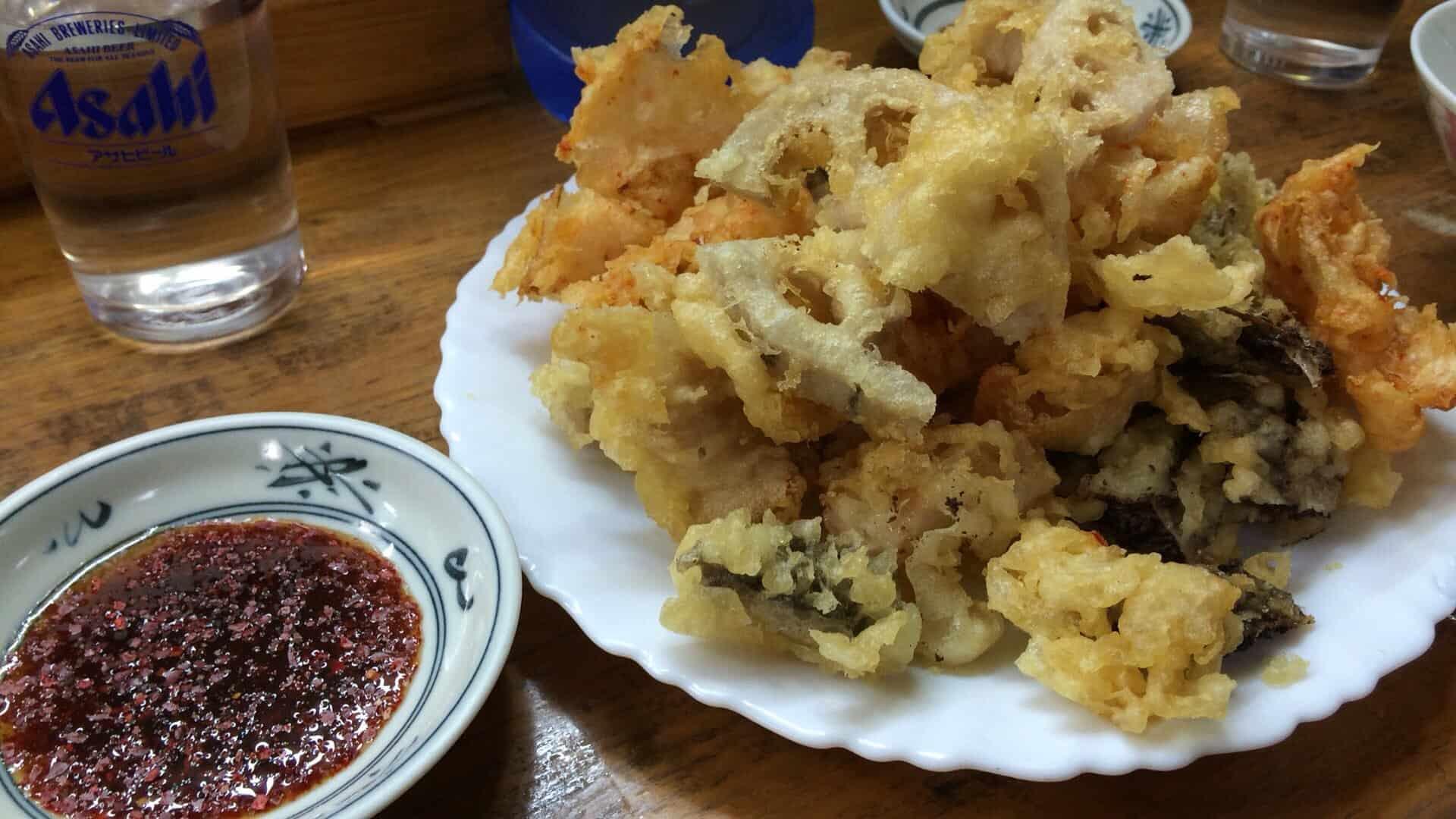 อาหาร ฮิโรชิม่า (Hiroshima Gourmet) - โฮรุมงเทมปุระ (Horumon Tempura)