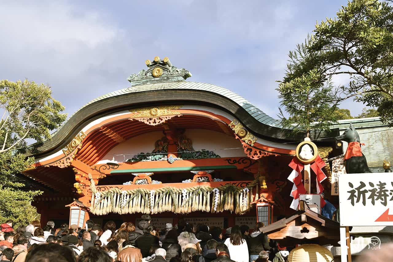 ทำบุญ ปีใหม่ ใน เกียวโต ที่ ศาลเจ้าฟูชิมิอินาริ (Fushimi Inari Taisha)