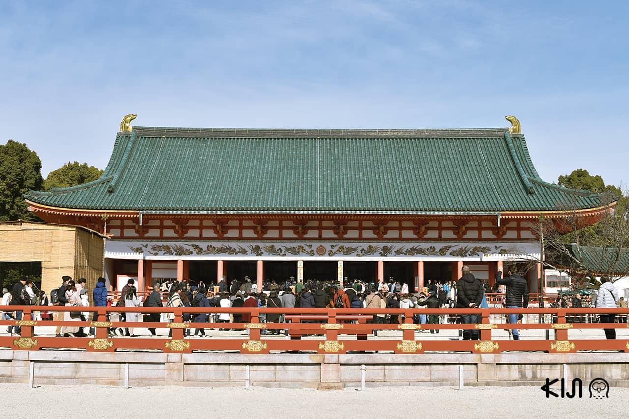เที่ยว เกียวโต ปีใหม่ ที่ ศาลเจ้าเฮอัน (Heian Shrine)