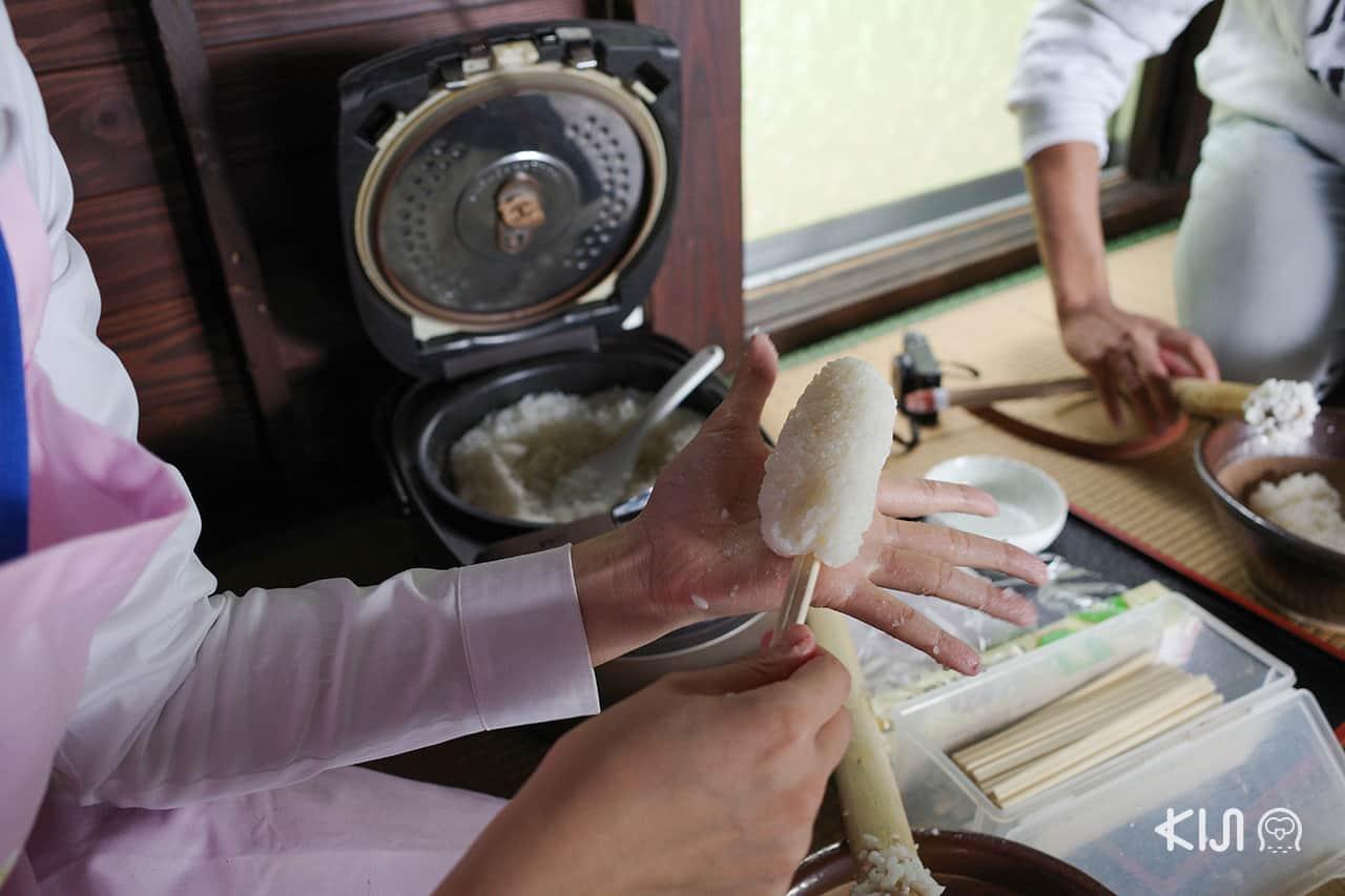 คอร์สทำคิริทัมโปะในฟาร์มสเตย์ อีกหนึ่ง ที่เที่ยว เท๋ๆ ของจังหวัด อาคิตะ