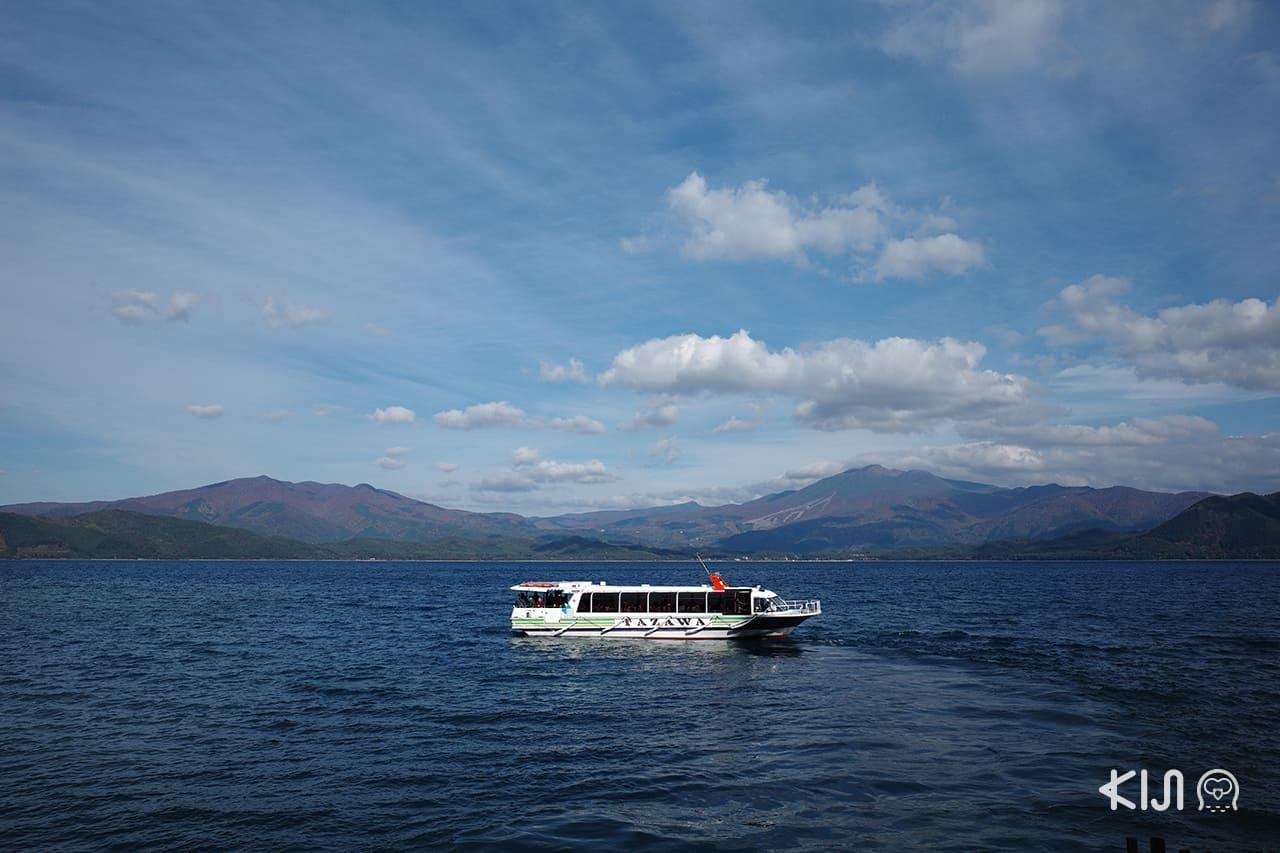 นั่งเรือชมวิวทะเลสาบทาซาวาโกะ ที่เที่ยว น่าสนใจของจังหวัด อาคิตะ