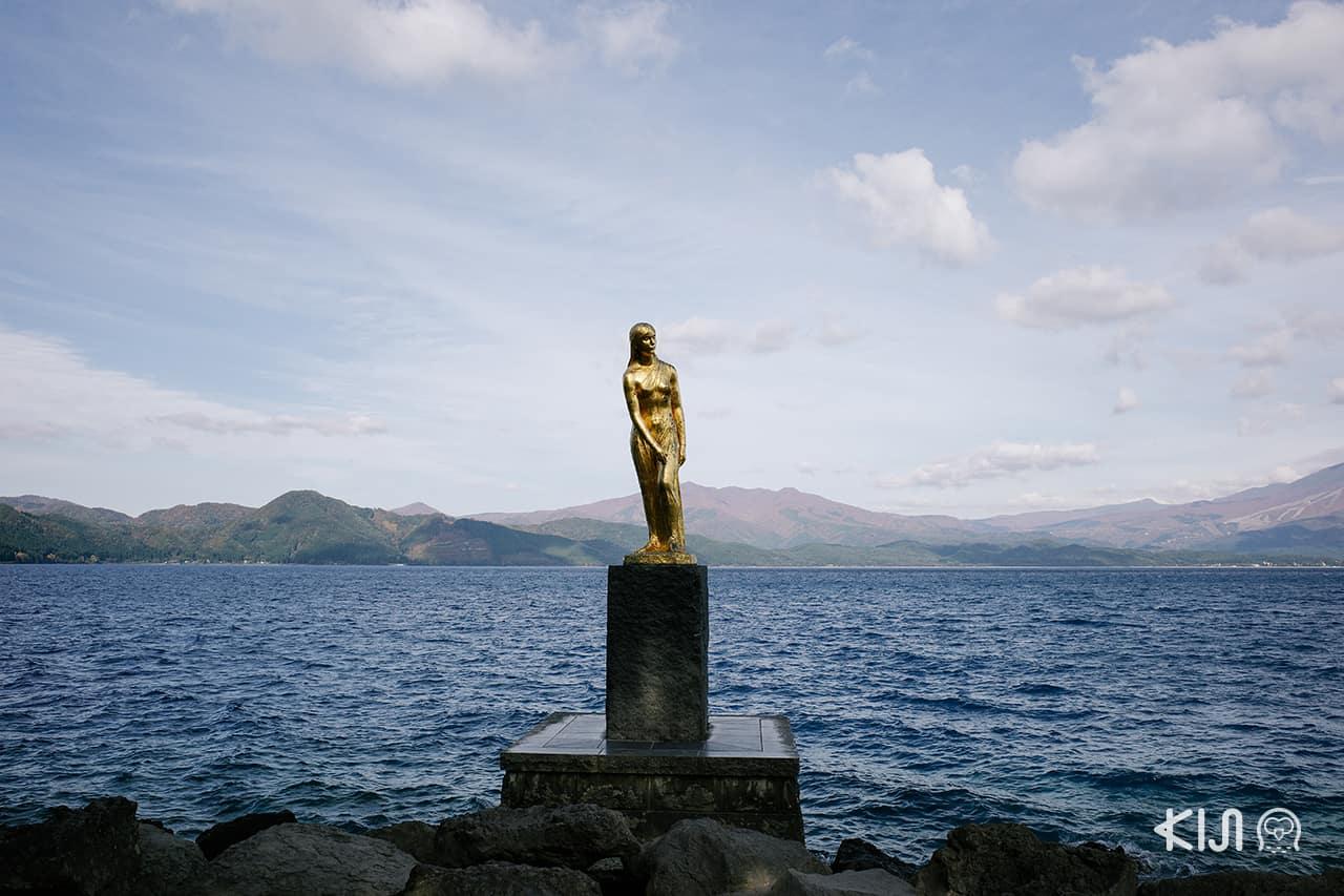 รูปปั้นทัตสึโกะ (Statue of Tatsuko) หญิงสาวในตำนานของ ทะเลสาบทาซาวะ