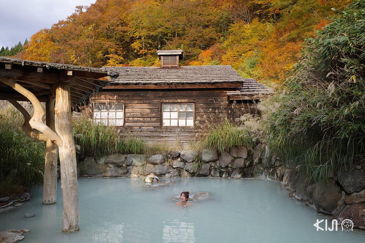 ์Nyoto Onsen หมู่บ้านออนเซ็นที่อยู่ในหุบเขาลึก ที่เที่ยว ควรไปของ อาคิตะ