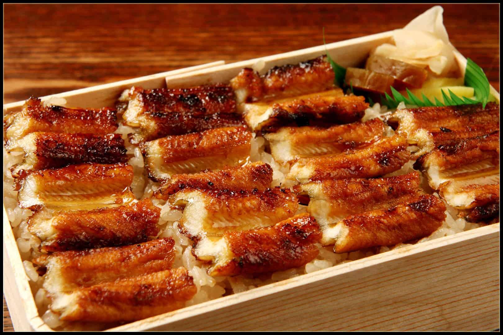 อาหาร ฮิโรชิม่า (Hiroshima Gourmet) - ข้าวหน้าปลาไหลอานาโกะ (Anago Meshi : あなごめし)