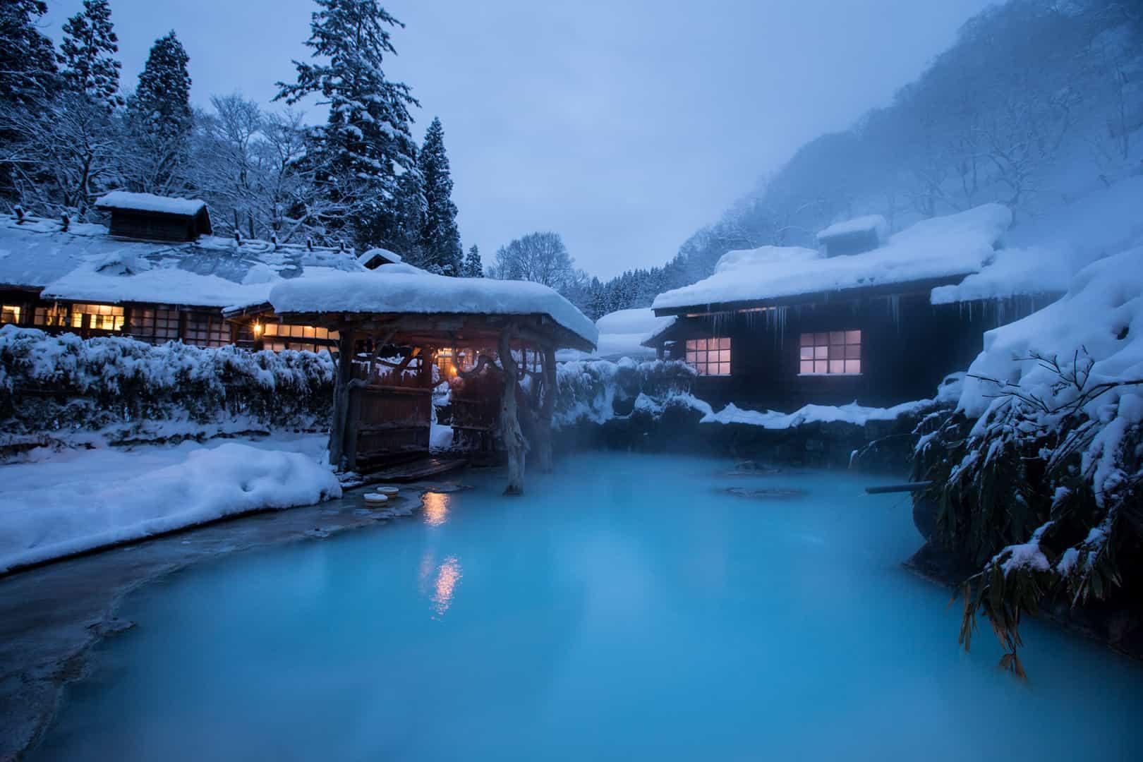 แช่ออนเซ็น ใน ฤดูหนาว ที่ภูมิภาค โทโฮคุ
