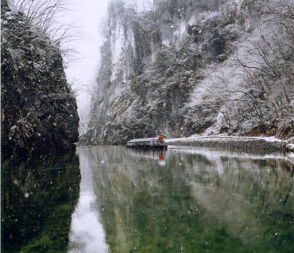 หุบเขาเกบิเค (Geibikei Gorge) ช่วง ฤดูหนาว ที่ โทโฮคุ