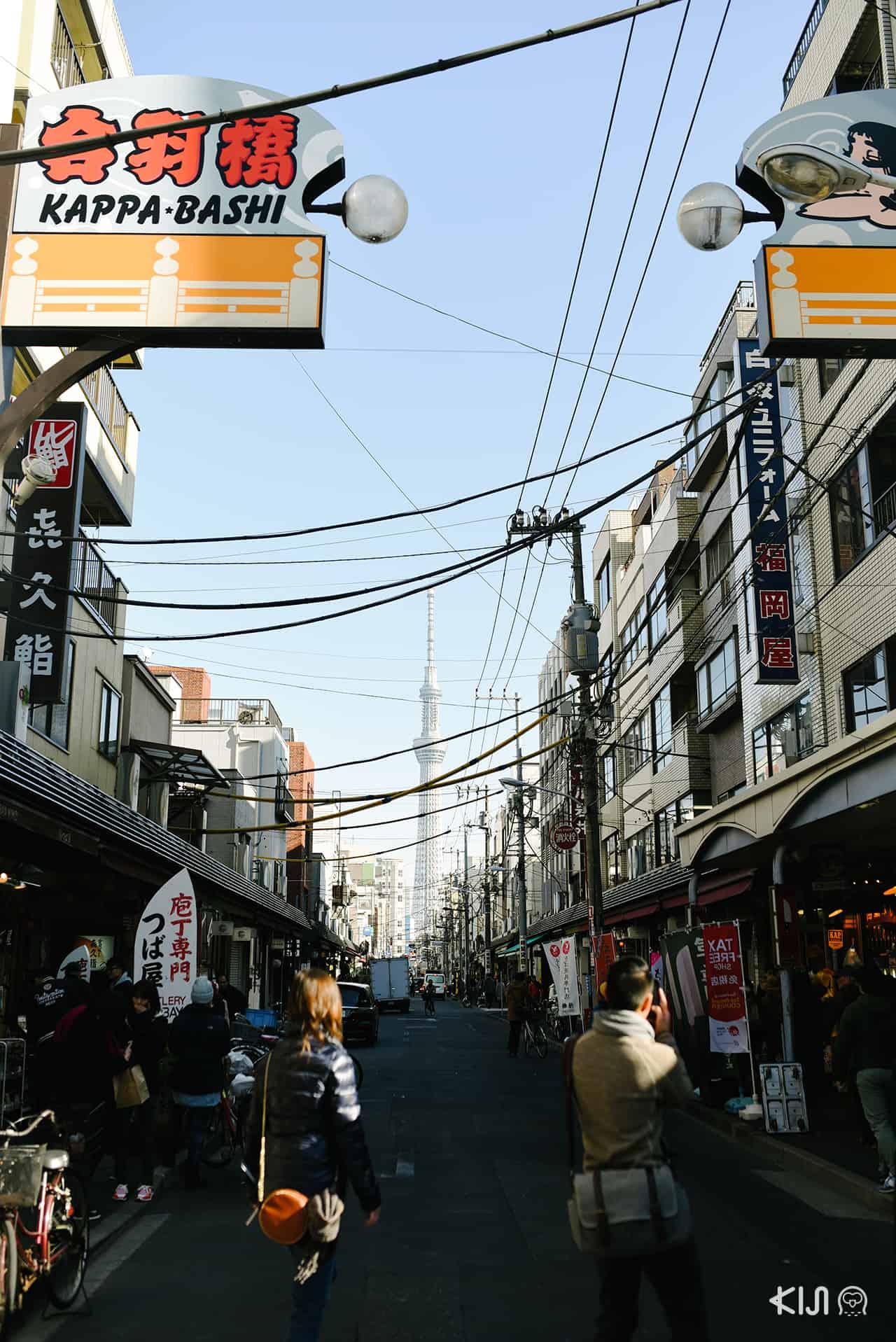 เที่ยว อาซากุสะ - ถนนกัปปะบาชิ (Kappabashi Street)