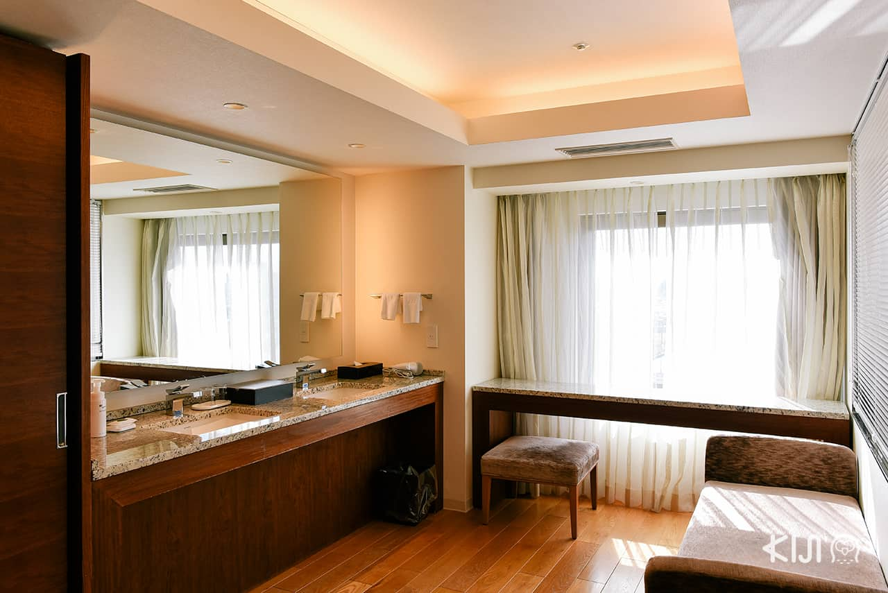 Hotel Metropolitan Akita ห้องน้ำที่ทั้งกว้าง เรียบง่ายแต่หรูหรา