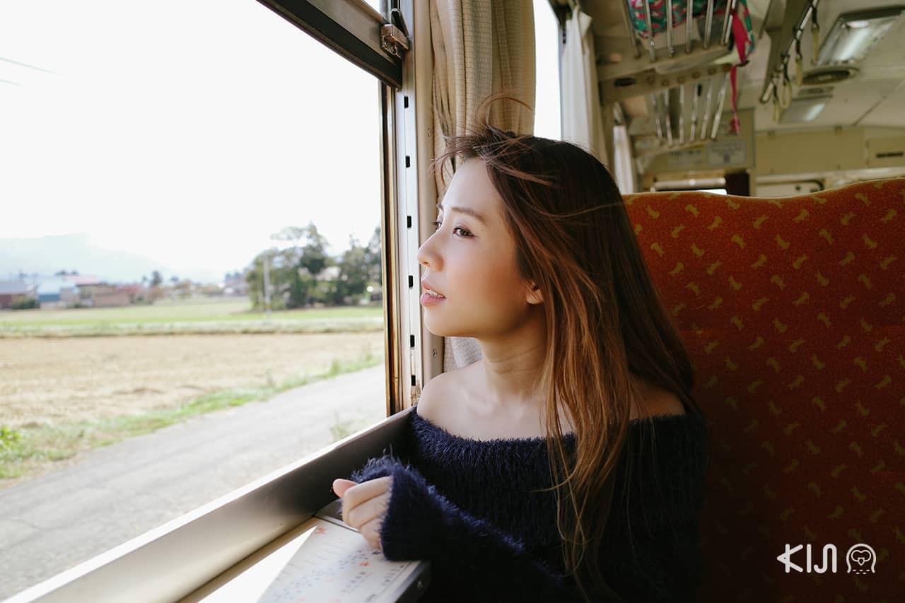 นั่งรถไฟอาคิตะไนริคุ (Akita Nairiku Line)