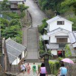 japan edo village-slope walkway2-kitsuki-oita prefecture-japan