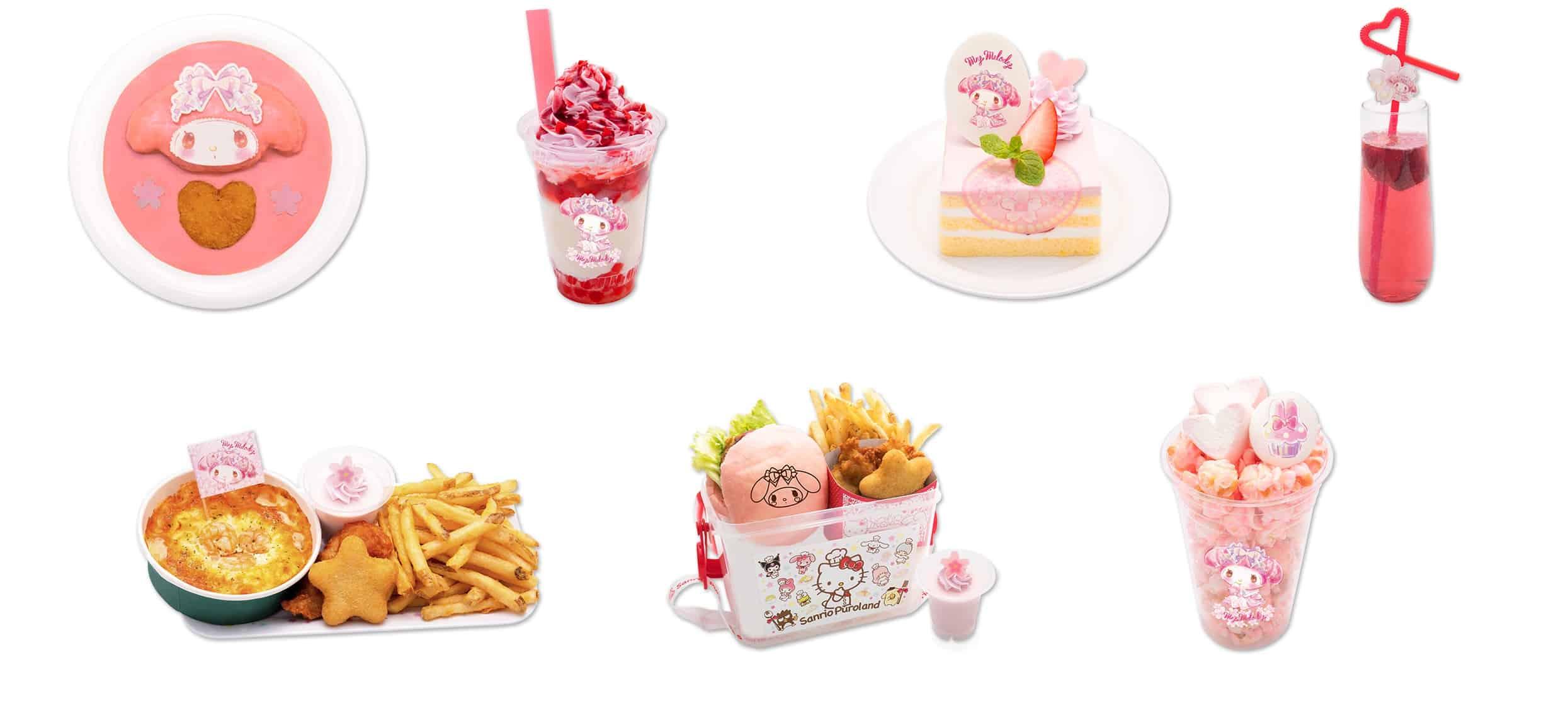 อาหารและเครื่องดื่มภายในงาน My Melody 45th Anniversary Fair ที่ Sanrio Puroland