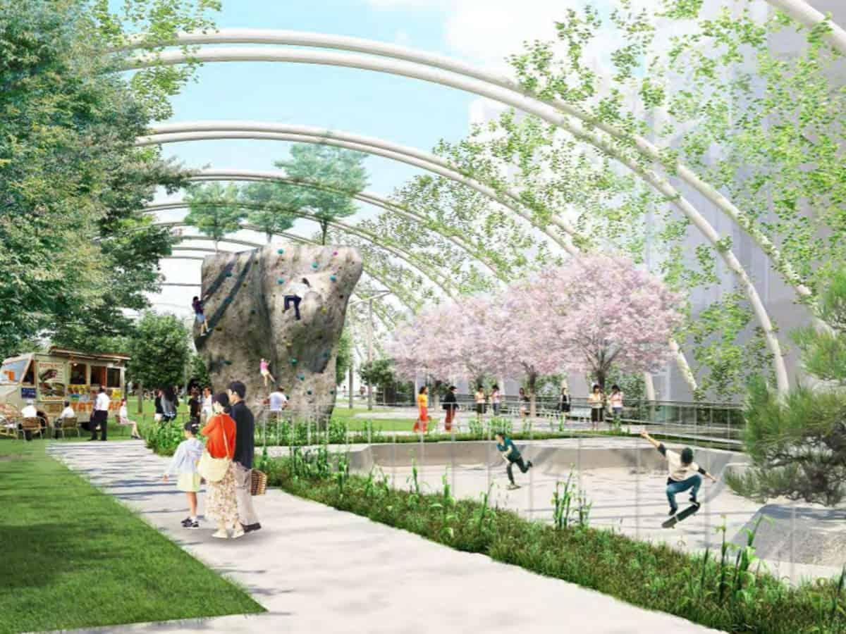 ที่เที่ยว Tokyo 2020 - สวนมิยาชิตะ (MIYASHITA PARK)